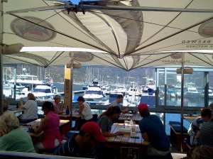 View from The Lookout Deck Restaurant in Hout Bay